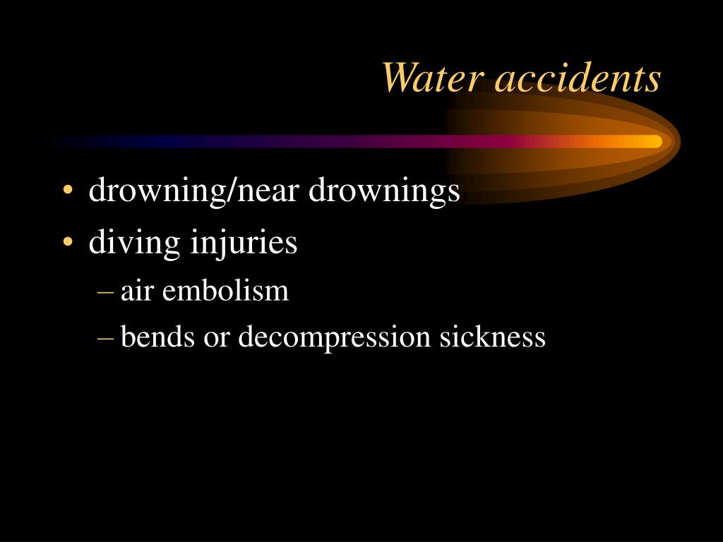Water accidents