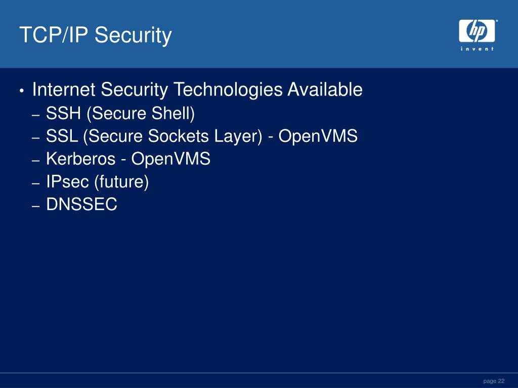 PPT - TCP/IP Services for OpenVMS V5 4 Technical Update