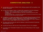competitive analysis i