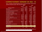 confectionery demand in usa ii