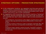 strategic options production strategies