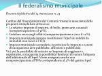 il federalismo municipale