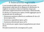 il federalismo regionale38