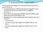 il federalismo regionale39