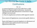 la riforma del titolo v della costituzione9