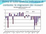prima di tutto qualche indicatore di contesto le migrazioni dei ricoveri