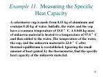 example 11 measuring the specific heat capacity