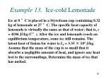 example 13 ice cold lemonade