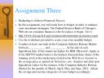 assignment three
