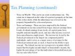 tax planning continued33