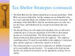 tax shelter strategies continued43