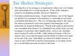 tax shelter strategies