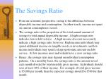 the savings ratio