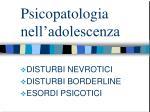 psicopatologia nell adolescenza
