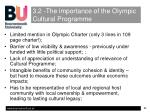 3 2 the importance of the olympic cultural programme
