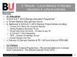 3 results local delivery of olympic education cultural activities