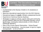 context the educational power of olympic sport in dorset