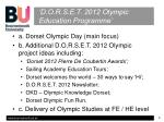 d o r s e t 2012 olympic education programme