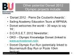 other potential dorset 2012 olympic projects include