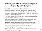 extracts from jtids operational special project report to congress