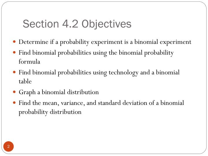 Section 4 2 objectives