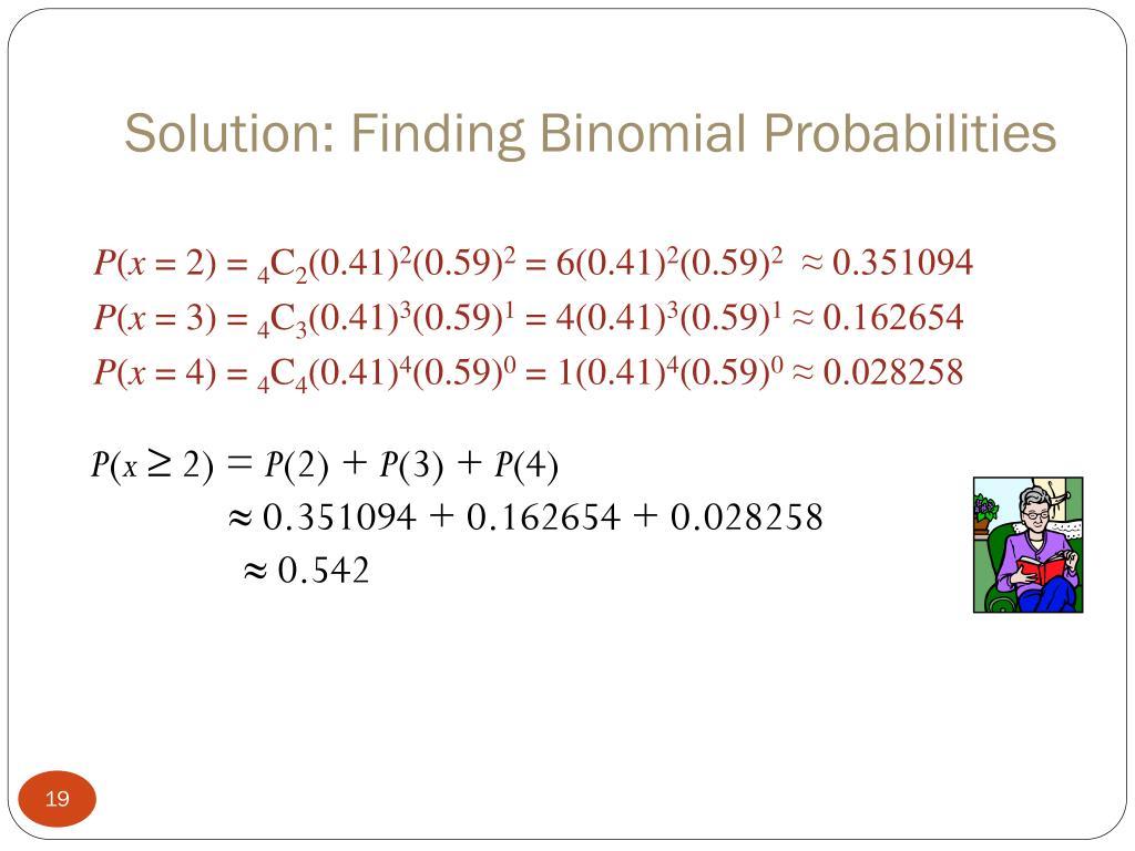 Solution: Finding Binomial Probabilities