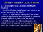 conflict of interest in iacuc reviews