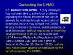 contacting the cvmo