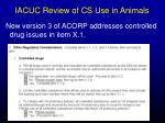 iacuc review of cs use in animals