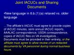 joint iacucs and sharing documents