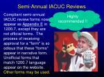 semi annual iacuc reviews