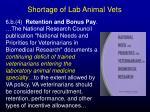shortage of lab animal vets