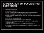 application of plyometric exercises