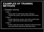 examples of training methods21