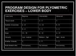 program design for plyometric exercises lower body