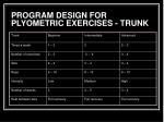 program design for plyometric exercises trunk