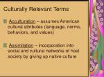 culturally relevant terms