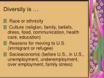 diversity is