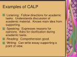 examples of calp