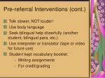 pre referral interventions cont