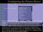 configuring the printer driver