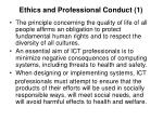ethics and professional conduct 1