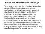 ethics and professional conduct 3