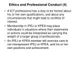 ethics and professional conduct 4