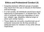 ethics and professional conduct 5