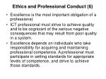 ethics and professional conduct 6