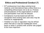 ethics and professional conduct 7
