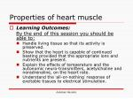 properties of heart muscle