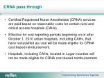 crna pass through