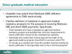 direct graduate medical education